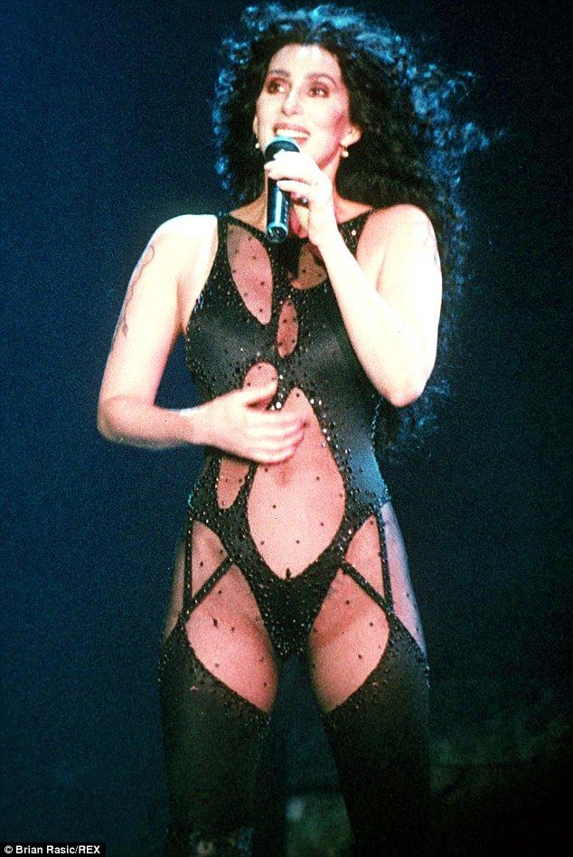 Nothing to hide! She also wore the daring number to perform at London's Wembley Stadium in...