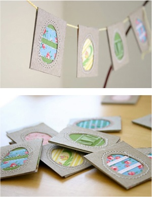 Easter Egg Bunting: Cards Scrapbook, Easter Spr, Easter Decor, Easter Eggs, Easter Ideas