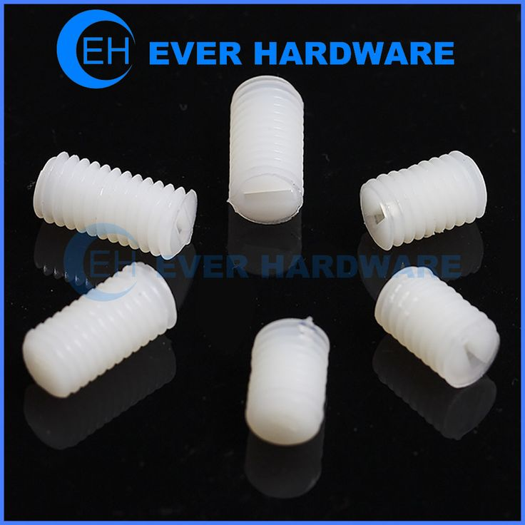 Plastic Grub Screw Nylon Moulded Natural Slotted Reliable Cup Point