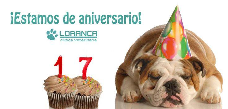 ¡Estamos de 17º aniversario! Y para celebrarlo tenemos #DESCUENTOS en #pienso de alta gama. Ven e infórmate a cerca de las condiciones especiales para la alimentación de tu mascota: CALIBRA, EUKANUVA, HILL'S y ADVANCE www.clinica-veterinaria-loranca.com