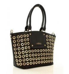 NOBO Designerska torebka kuferek czarny