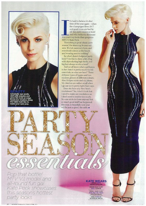 The Inder Dhillon Julian Cutout dress in Ok Magazine