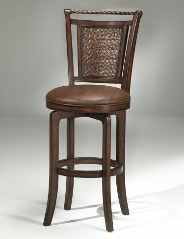 Nice Hillsdale Furnitureu0027s Norwood Stool Has Expanded One Of Our Most Popular  Design Features. Insetting Our Copper Hued Hammered Metal Back Into A  Distressed ...