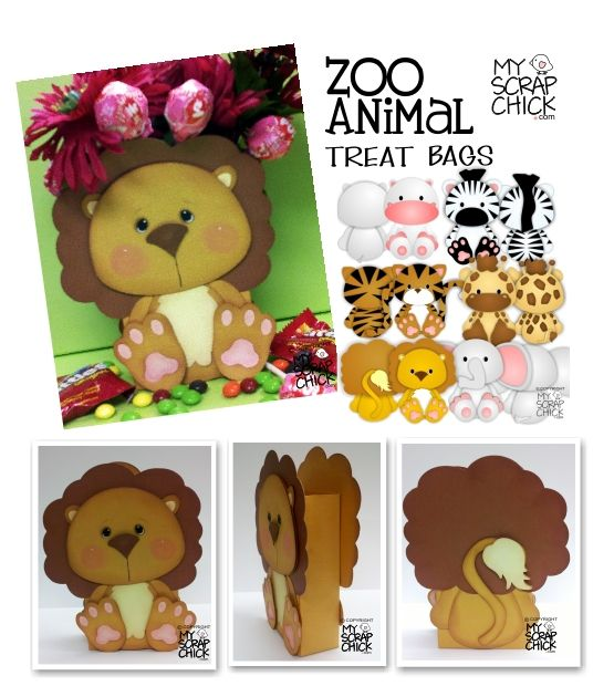 Zoo Animal Treat Boxes from myscrapchick.com