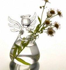 Skleněná váza ve tvaru andělaPošta Zdarma