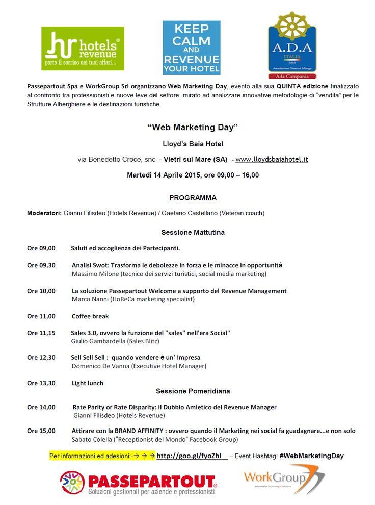 14.04.15 a Vietri Giornata formativa totalmente gratuita Info ed inscrizioni >>> http://goo.gl/fyoZhl