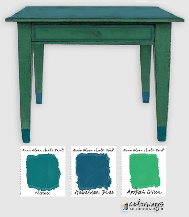 Annie Sloan Blues & Greens | Colorways with Leslie Stocker