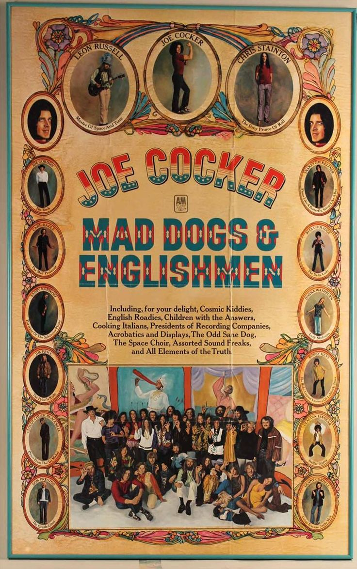 Joe Cocker, Mad Dogs & Englishmen, Live LP Promo Poster Ad