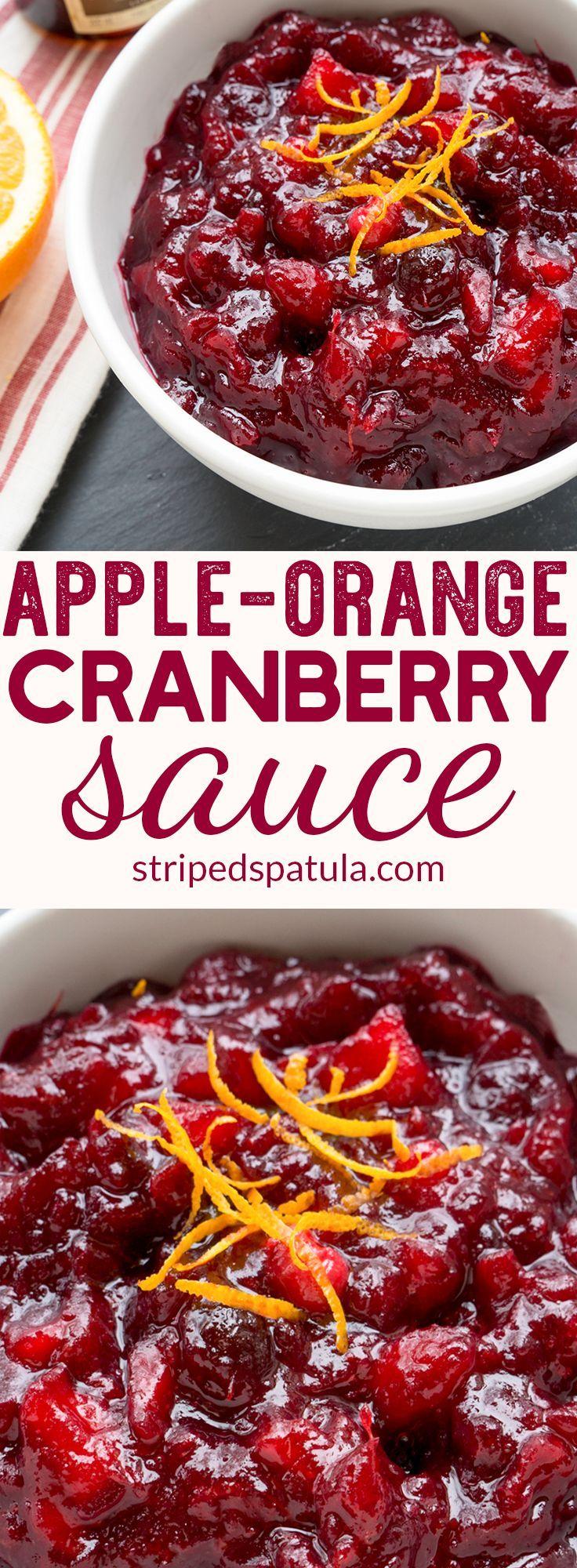 Apple Orange Cranberry Sauce Recipe | Thanksgiving Sides Easy | Cranberry Sauce …