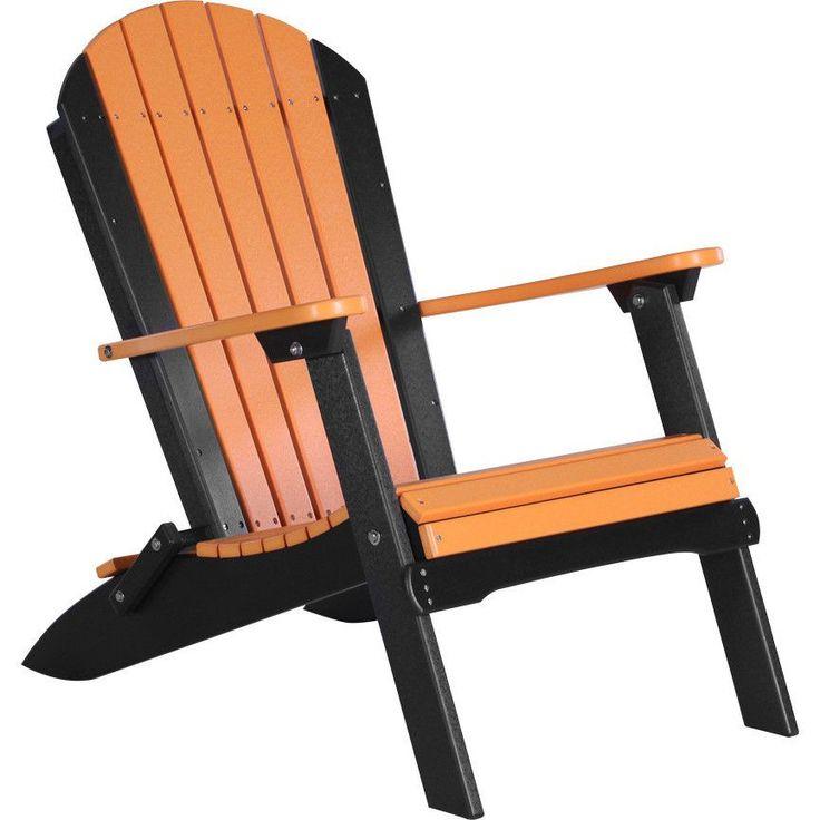 LuxCraft Folding Recycled Plastic Adirondack Chair