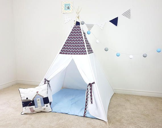 American Patriot Chevron Stars Teepee  Outside Poles