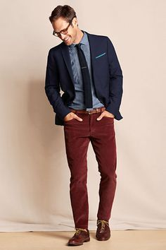 as combining a burgundy pants men - Buscar con Google