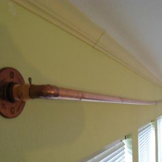 Gardinenstange aus Rohren    DIY copper curtain rod