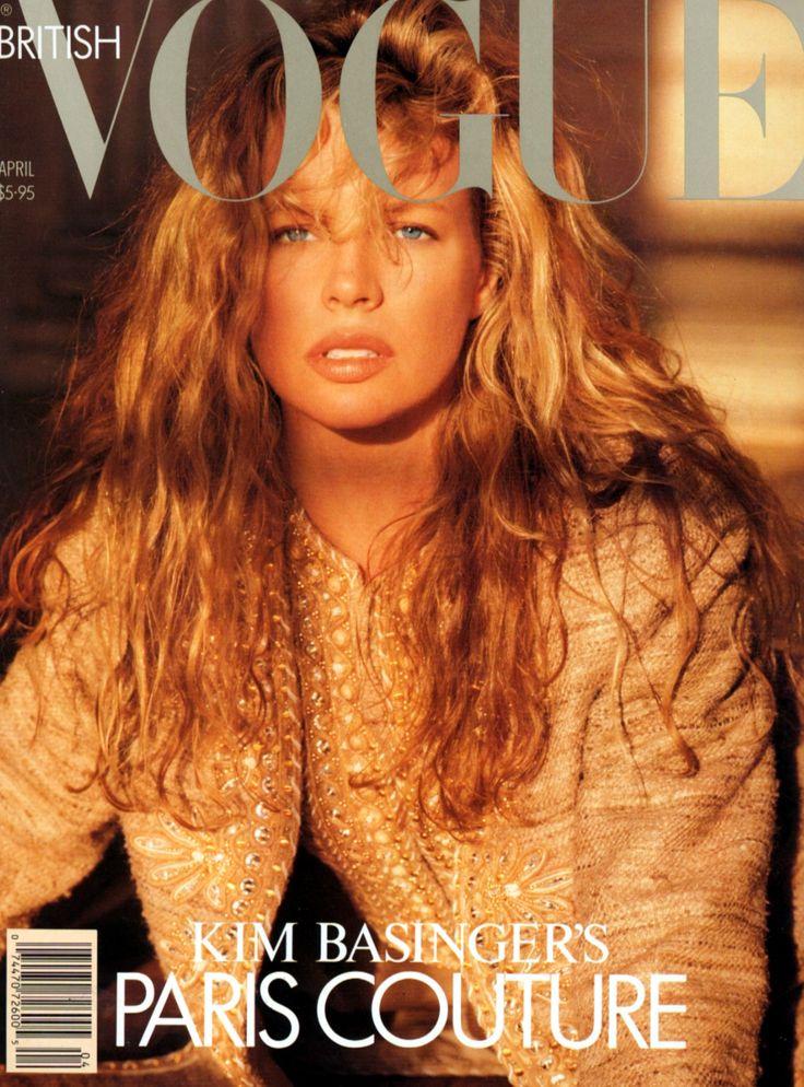 MODEL / ACTRESS- : KIM BASSINGER | BRITISH VOGUE APRIL, 1989 COVER