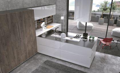 17 meilleures id es propos de cuisine inox sur pinterest armoire propre en bois cuisine for Cuisine designe