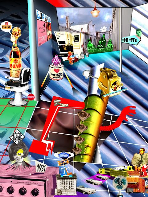 Collage a base de imagenes aleatorias de internet y fotos sacadas con el teléfono móvil