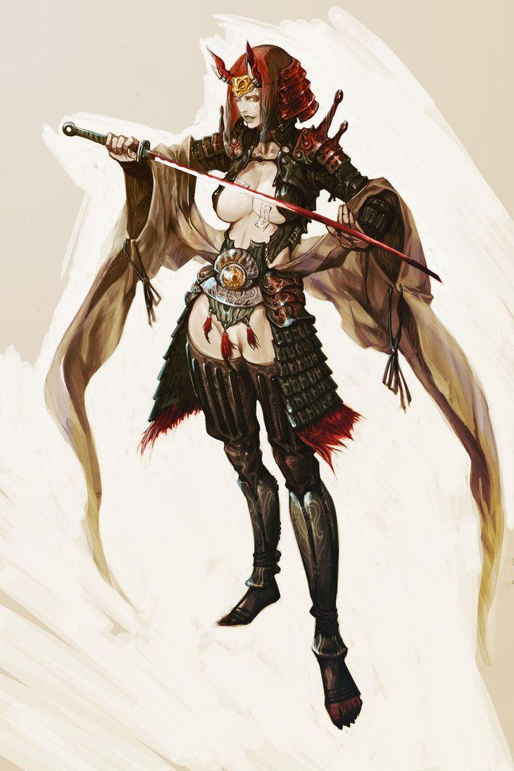 Female warrior/samurai.. and DANG... someone needs better armor