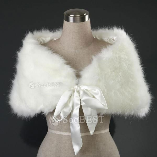 Wedding and Bridal Faux Fur Capes, Cloaks, Jackets, Stoles, Shawls, Wraps, and Jewelry Accessorie