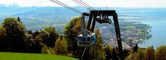 Pfander cable car - {en roue to Switzerland}, Bregenz Austria