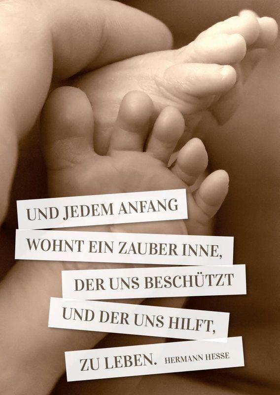 Babykarte mit Füßen und Spruch