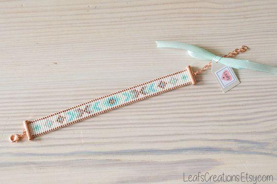 Bead loom bracelet Beads bracelet Loom beaded от LeafsCreations