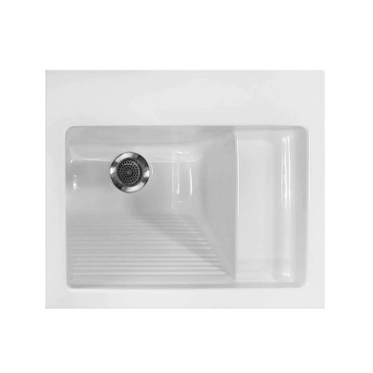 Hydro Systems 21 in. x 26 in. Acrylic Drop-in Laundry Sink-LAU2126ATAW - The Home Depot