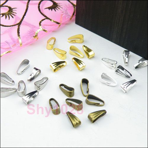 Chain/Necklace Connector Clip Bail 2.8x7mm,3.5x8.5mm,Silver,Gold,Bronze.R5077