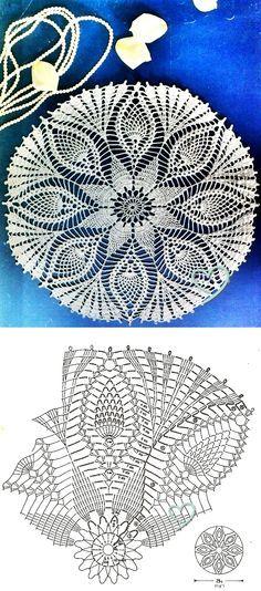 carpeta crochet redonda