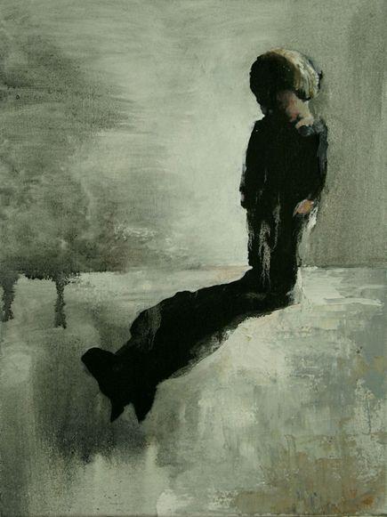 Visual artist Samuli Heimonen Armi says thank you. Acryl and oil on canvas. 30cm X 40cm. 2008