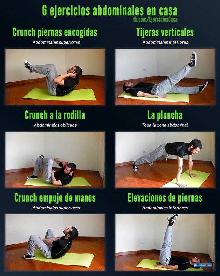 6 ejercicios abdominales en casa gym pinterest for Gimnasio en casa