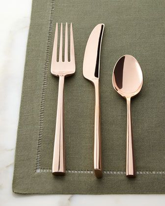 It's all in the details. Rose Gold Flatware Place Setting by kate spade new york at Horchow.