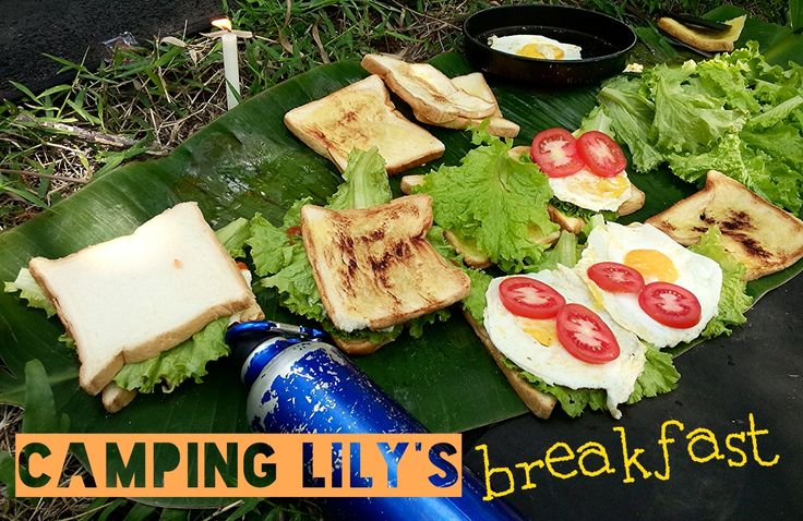 Camping Lily, July 2014 All foods are ready, let's have the breaksfast