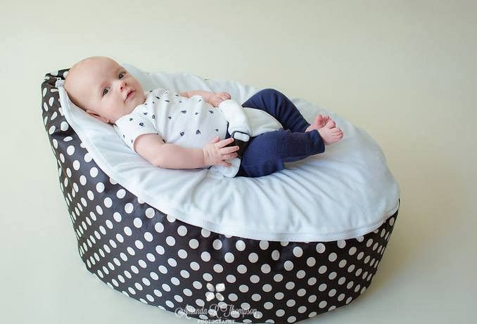 BayB Brand Bean Bag - Black Polka Dot