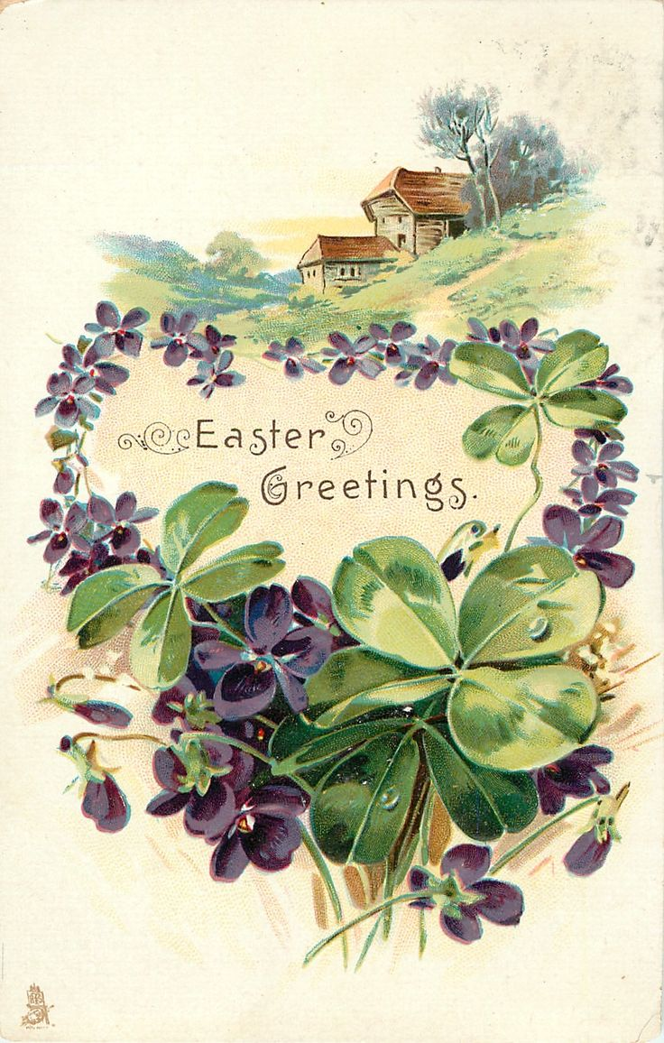 Easter Greetings Or A Bright And Happy Christmas Green