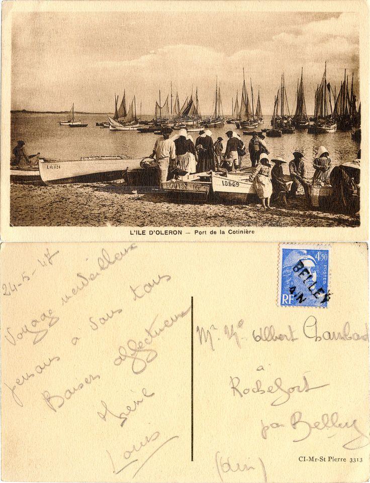 L'Ile d'Oléron - Port de la Cotinière - 1947 (from http://mercipourlacarte.com/picture?/1931/)