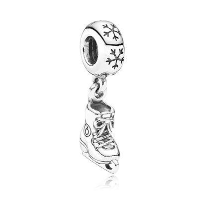 PANDORA ice skate dangle charm. $40 #PANDORAcharm #silver