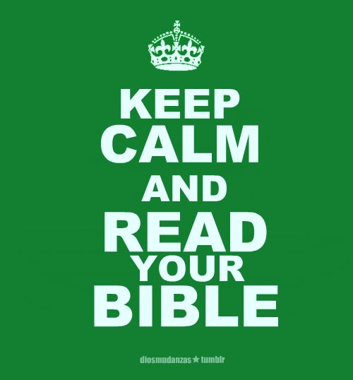 and read your bible!