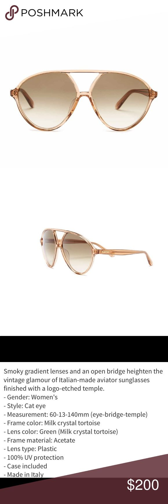 Valentino Women's Aviator Sunglasses Valentino Women's Aviator Sunglasses.  NWT.  Stylish and chic sunglasses!. Walnut color. Valentino Accessories Sunglasses