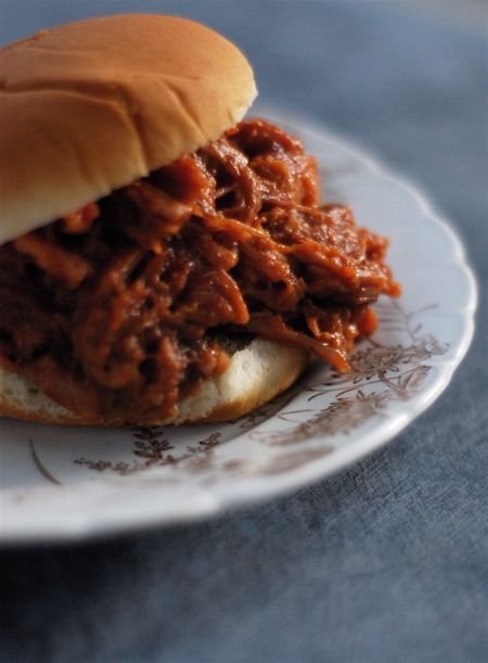 a simple, wonderful recipe for barbecue pulled pork that you make in your crock pot!