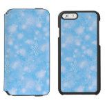 Lights & Snowflakes Lt Blue (iPhone 6/6SEor5/5) iPhone 6/6s Wallet Case