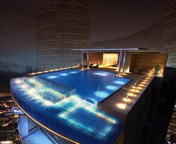 17 best roof top pools images on pinterest dream pools for Rooftop swimming pool design