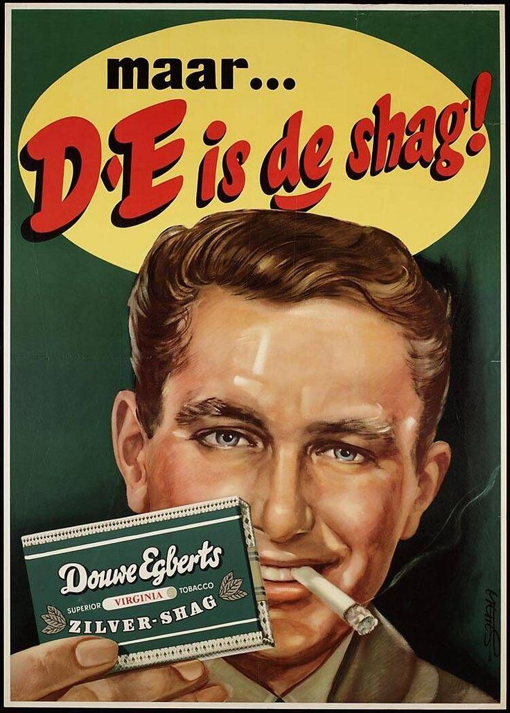 D.E Shag - vintage ad - Smoking