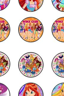 Free Winx Birthday Party Cupcake Topper Pritables
