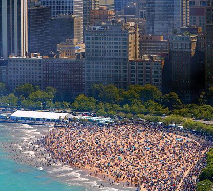 Oak Street Beach Chicago, located near the Magnificent Mile