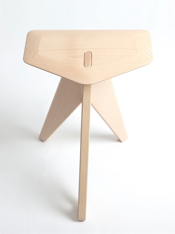 Tripod stool by Eunjin Jung