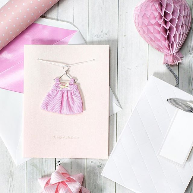 It's all in the details when choosing the perfect card. We love the detail in this little baby girl card, how gorgeous! #johnsands #johnsandscards