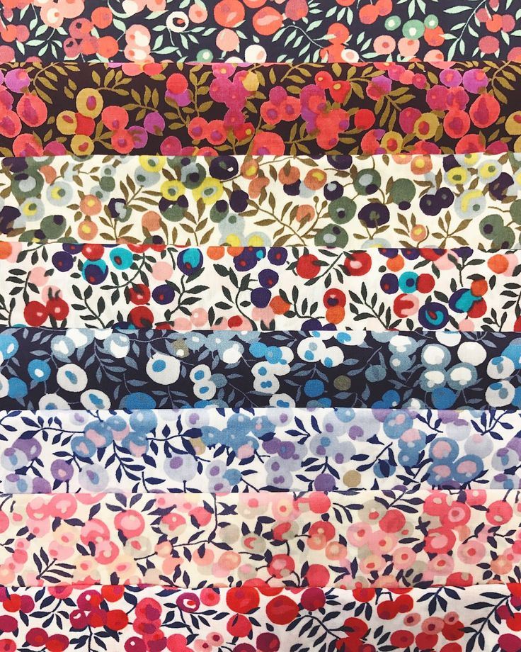 Liberty Fabrics - Wiltshire Fat 1/16 Bundle - The Strawberry Thief