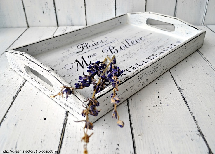 Dreams Factory: Tray with French graphic from The Graphics Fairy and lavender