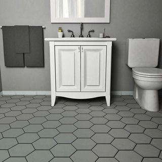 25 best ideas about hexagon floor tile on pinterest for Bathroom designs 7x8