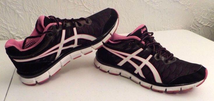 WOMEN'S ASICS GEL NERVE 33 RUNNING CROSS TRAINING SHOES SZ 10 T15BQ BLACK PINK #ASICS #RunningCrossTraining